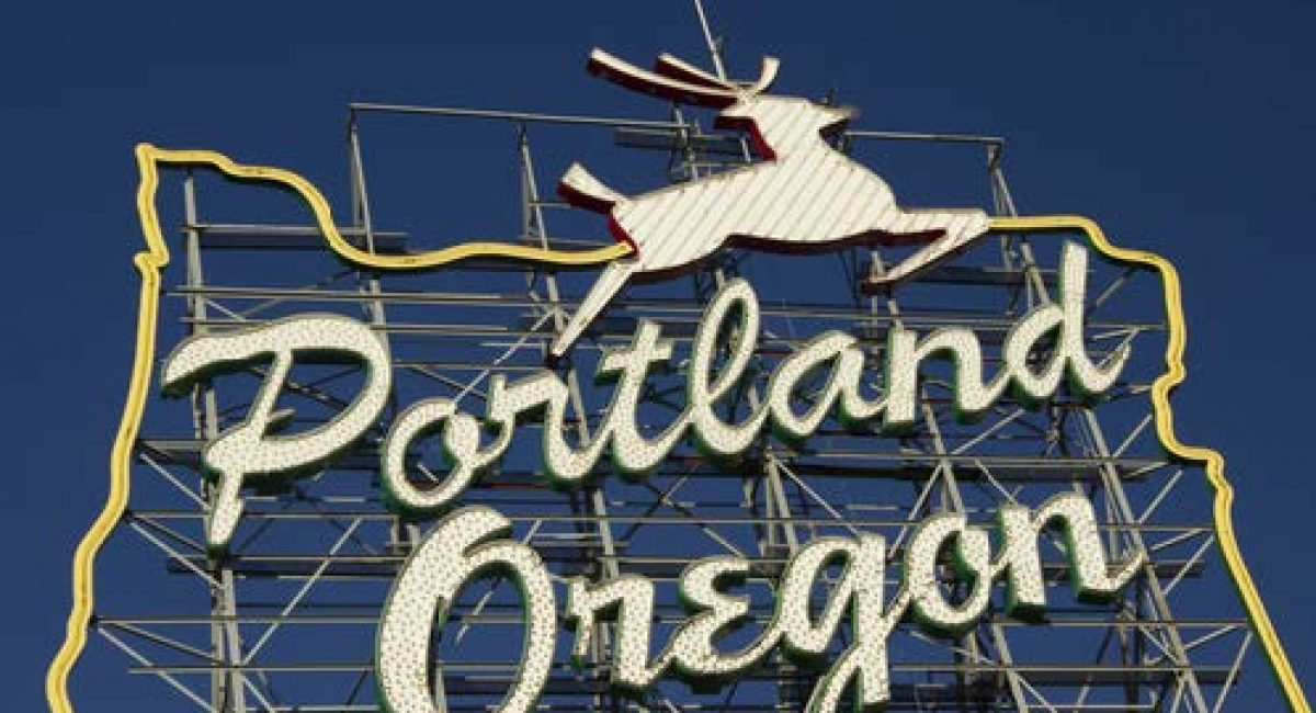 Portland Oregon Stag Sign